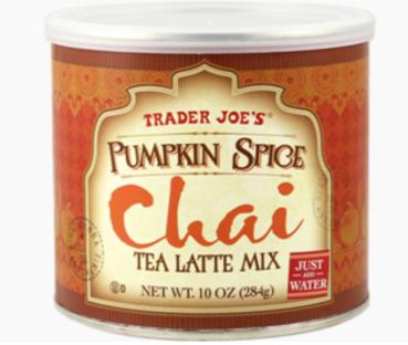 Pumpkin Spice Chai Tea Latte Mix, $3.99